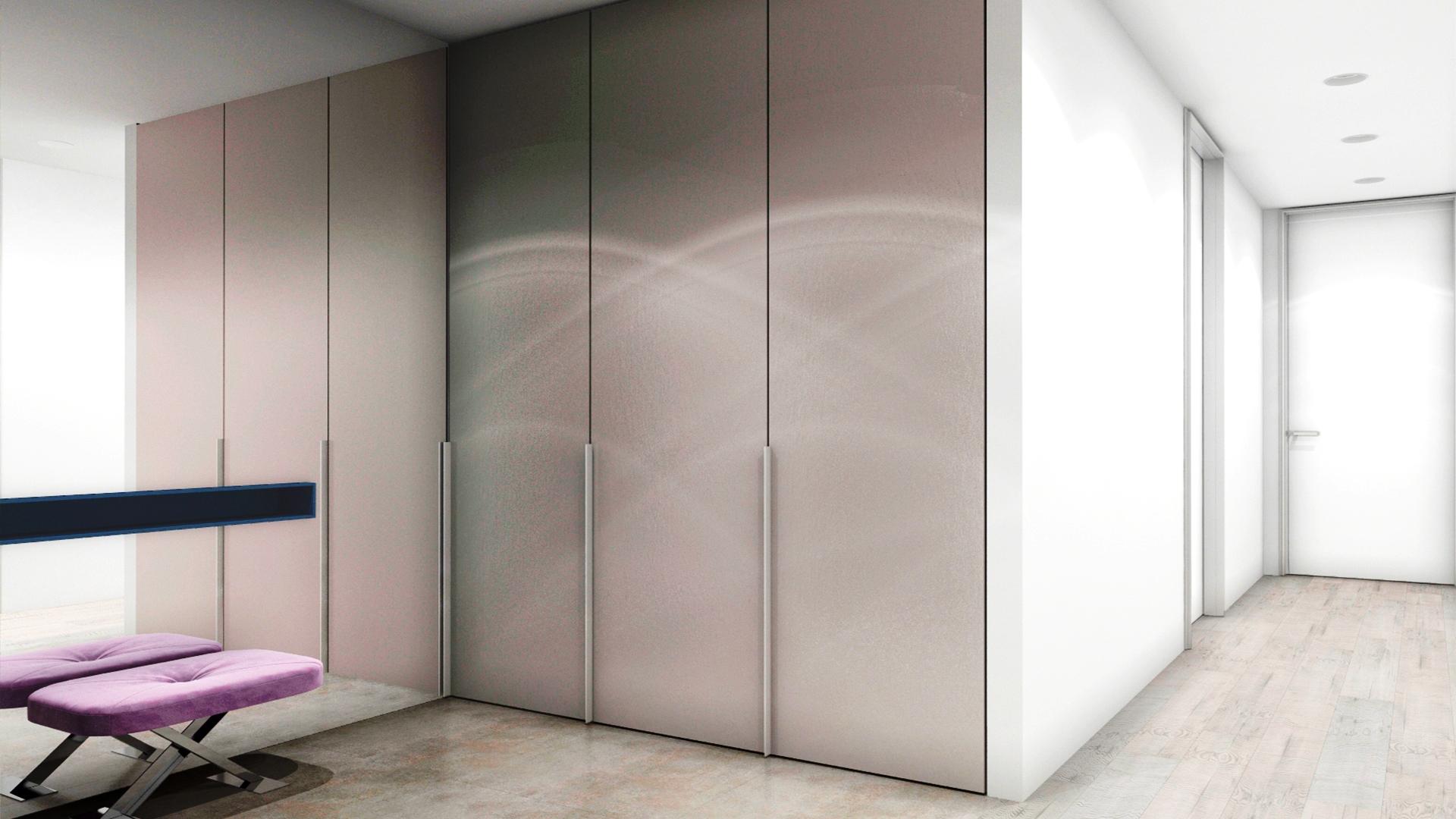 Petit couloir dans un style moderne