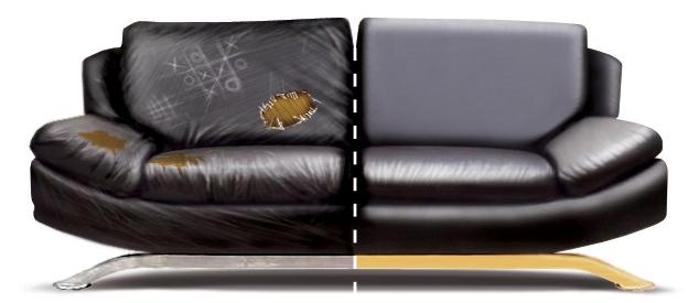 Couvrir le canapé avec un nouveau tissu