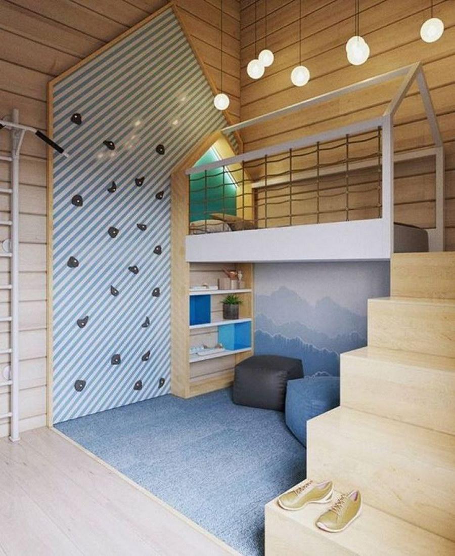 Garniture en bois dans la pièce