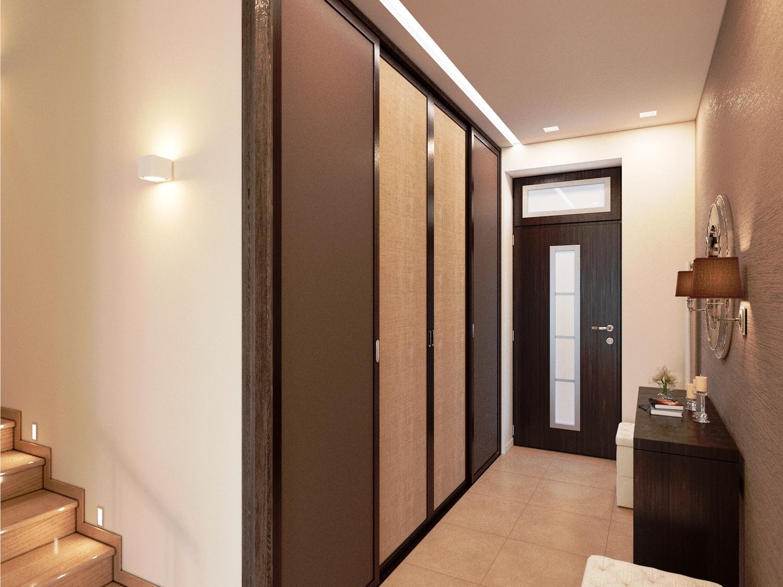 Hall d'entrée avec grande armoire encastrée