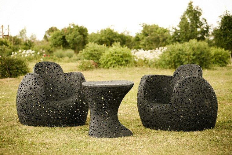 Meubles de jardin en basalte