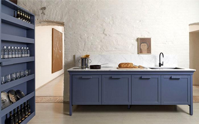 Les tons bleus seront populaires dans la conception de la cuisine en 2018