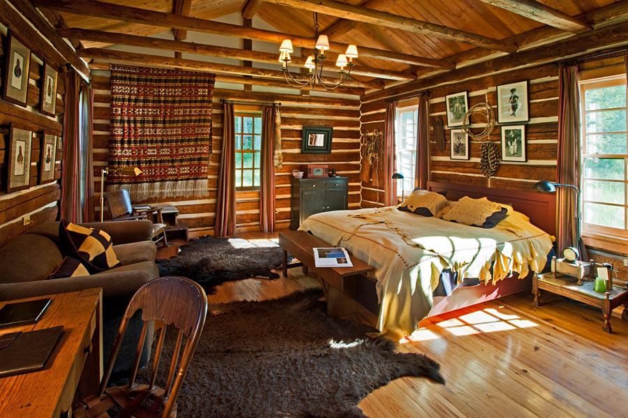 Style rustique à l'intérieur de la chambre