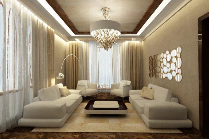 Salon confortable au design moderne